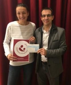 Frau Simone Hartmann, Ambulantes Kinderhospiz München und Andreas Zeidler, SKF Economos Deutschland GmbH