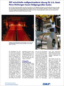 SKF entwickelte maßgeschneiderte Lösung für U.S. Steel - Cover